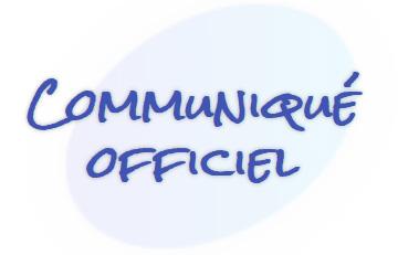 Rubrique Communiqué Officiel