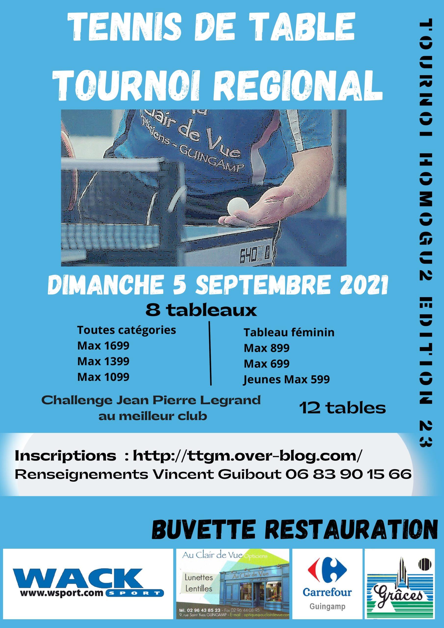 Tournoi De Tennis De Table 1